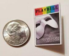 Miniature Dollhouse Playbill  book 1/12 Barbie     Phantom of  opera Musical Rai