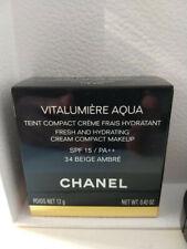 CHANEL VITALUMIERE AQUA CREAM COMPACT 34 BEIGE AMBRE NEW IN BOX