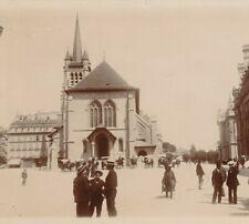 PHOTO ANCIENNE LAUSANNE EGLISE ST FRANCOIS LAC LEMAN SUISSE 12 X 9 cm vers 1900
