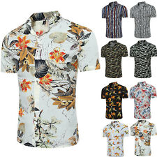 Men's Luxury Casual Formal Shirt Short Sleeve Slim Fit Business Dress Shirts Top