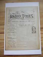 New Postcard Vtg Radio Times cover September 1923 First edition Official BBC