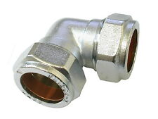 22mm Chrome Plated Compression Elbow Fitting