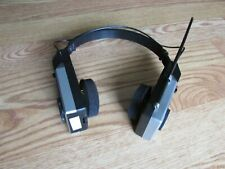 ULTRONIC FOLDING AM/FM Radio Stereo Receiver Headphones Silver