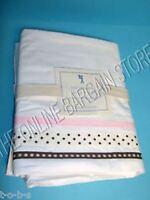Pottery Barn Kids PBK Hannah Ribbon Bed Bedroom Sheets Set Twin Pink Dot