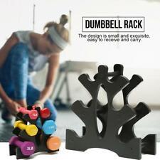 PVC 3 Tier Dumbbell Rack Hex Dumbbell Storage Dumbbells Tree Black Durable Home