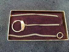 "Tone Pocket Watch Fob Vintage Anson 17-3/4"" Gold"