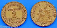France 2 Francs 1922 Chambre of Commerce Free Shipping Worldwide Franc Frcs Frc