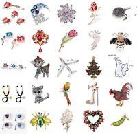 Brooch Crystal Rhinestone Animal Lovely Broach Pin Bridal Jewelry AccessoryT lx