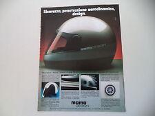 advertising Pubblicità 1986 CASCO HELMET MOMO DESIGN