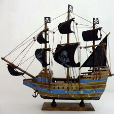 "WOOD MODEL 15.3""length PIRATE SHIP Sailing Boat Corsair Tall Ship Nautical decor"