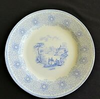 Antique James Edwards SIRIUS Blue transferware plate mid 1800's ironstone gifts