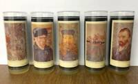 "Set of 5 Vintage Artist Highball Glasses Tumbler Van Gogh 6.8"" x 2.5"""