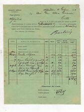 fattura antica - SINDACATO AGRICOLO DI TORINO ALESSANDRIA 1900