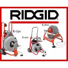 Ridgid K 750 Drum Machine 42007 K 400 T2 Machine52363 K 3800 Machine 53117