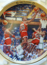 "Bradford Exchange Michael Jordan Collection ""1986 Playoffs"" Plate - Coa"