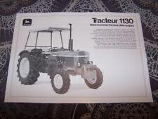 FY Prospectus/Brochure Agricole Tracteur John Deere 1130