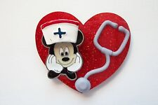 NURSE CHARMING MICKEY RN NURSE MEDICAL EMT VETERINARIAN LPN STAFF REEL BADGE