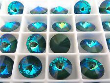 6 Ultra Emerald AB Swarovski Crystal Rivoli Stone 1122 12mm