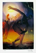 Salvador Dali COSMIC ATHLETE Facsimile Signed & Numbered Giclee Art