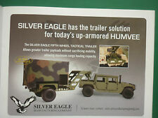 6/2008 PUB SILVER EAGLE FIFTH WHEEL TACTICAL TRAILER UP ARMORED HUMVEE ARMY AD