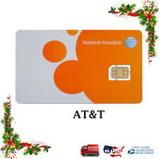 🔥New At&T Gsm Sim Card Never Activated 3G, 4G Lte Prepaid 🔥