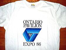 * EXPO 86 Vancouver * BRAND NEW Vintage T Shirt L Ontario Pavilion Logo 50/50