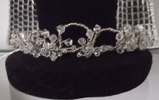 CRYSTAL & SILVER TIARA HEADPIECE, Bridal, Evening, HANDCRAFTED, BRAND NEW, Aust