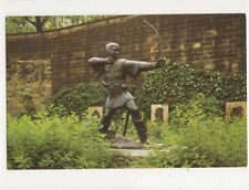 Robin Hood Statue Castle Grounds Nottingham Old Postcard 436a