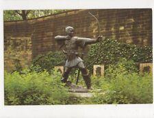 Robin Hood Statue Castle Grounds Nottingham Old Postcard 436a