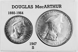 1947-S General MacArthur One Peso One 50 Centavo Set from Philippines