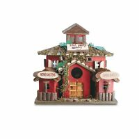 Koehler Home Decor Outdoor Garden Accent Wooden Bird House Finch Valley Winery