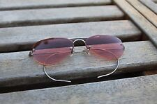 Vintage Oliver Peoples Wrap Around Ear Aviator Sunglasses Red Metal [48-15-110]