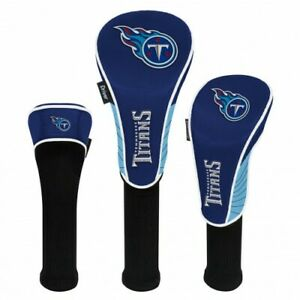 TENNESSEE TITANS EMBROIDERED LOGO DRIVER FAIRWAY HYBIRD SET 3 HEADCOVERS 👀⛳
