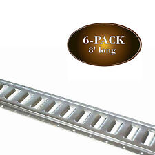 SIX 8' E Track Rails Cargo TieDowns for Truck/Trailer/Van, Horizontal Galvanized
