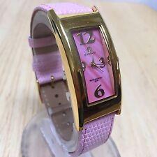 Stunning Pastorelli Gold Tone Curved Rectangle Analog Quartz Watch Hour~New Batt