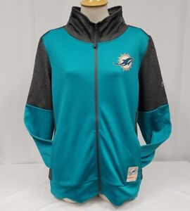 BRAND NEW Majestic Thermabase Women's NFL Miami Dolphins Full-Zip Sweatshirt