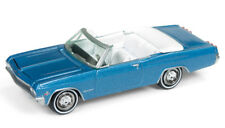 1/64 Johnny Lightning 1965 Chevrolet Impala Convertible in Nassau Blue Metallic