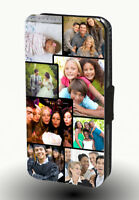Personalised Custom Collage Photo Picture Flip Wallet Leather Phone Case Cover