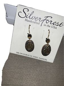 NEW Silver Forest Earrings Paws Copper/Gold/Silver w/18K surgical steel earwire