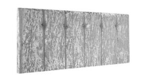 Queen Style Crushed Velvet Headboard With Diamante & Buttons, All Sizes & Colors
