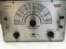Vintage Working Eico Model 377 Sine and Square Wave Audio Generator with Manual
