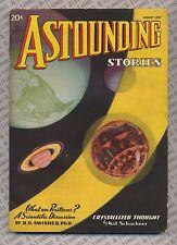 Astounding Stories August 1937 Vintage Pulp Magazine Very Good /Fine