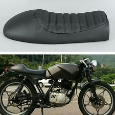 Moto Hump Saddle Cafe Racer Vintage Seat Cushion For Honda CB CL Suzuki GS Black