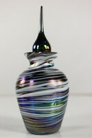 alter Parfum Flakon Glas Irisierend Stöpsel Fläschchen Jugendstil