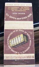 Rare Vintage Matchbook Cover B2 Boston Massachusetts Textile Waste Packers