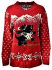 Women's TIARA INTERNATIONAL Holiday Party Ugly Christmas Xmas Sweater Sz M A896