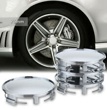 4x 75mm 69mm ABS Chrome Car Wheel Center Caps Hub Cover Hub Cap Fit For Mercedes