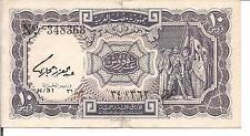 EGYPT ARAB REPUBLIC, 10 PIASTRES, P#183b, L.1940