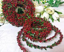(1,16€/m) 5m Buchsbaum Girlande rot Ilex Beerenschaumkugeln Weihnachten Herbst