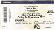 KASABIAN Metro Arena, Newcastle, Friday 24th November 2017 UK TICKET STUB